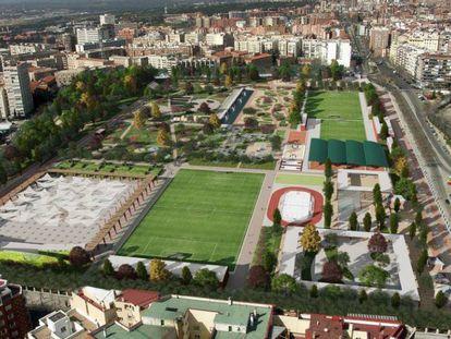 Proyecto del parque en Chamberí.