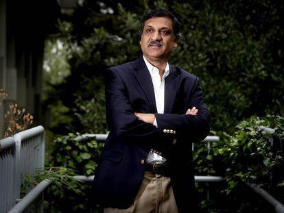 Anant Agarwal, en la Facultad de Humanidades de la UNED.
