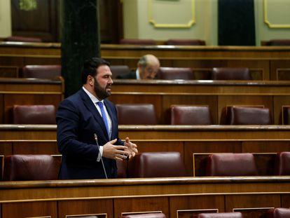 Jon Iñarritu, durante una sesión de control al Gobierno, el pasado abril.