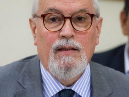 Ramón Guillermo Aveledo, durante el diálogo con el Gobierno.