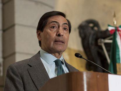 El nuevo titular de la Secretaría de Hacienda, Rogelio Ramírez de la O, en un evento del IMEF, en 2012.