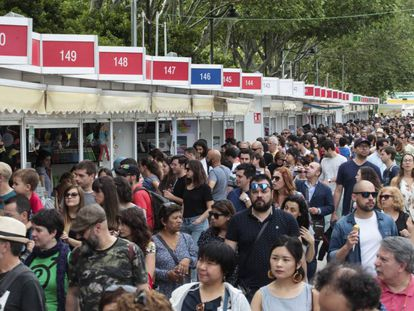 La Feria del Libro de Madrid este domingo.