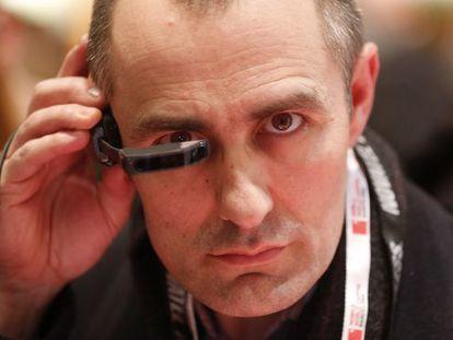 Prueba de las gafas Vuzix M100 en Showstoppers.