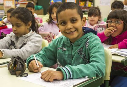 Clase en una escuela pública de Sao Paulo.
