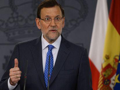 Como es habitual en comparecencias con mandatarios internacionales, la prensa pactó quién y qué se preguntaría a Rajoy, pero este dio la palabra a otro periodista.