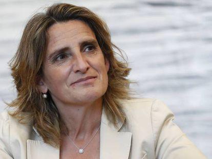 Teresa Ribera, vicepresidenta tercera y ministra para la Transición Ecológica, en una entrevista con CincoDías.