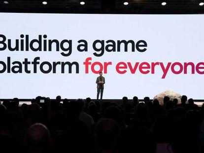 El director general de Google, Sundar Pichai, en la presentación de Stadia en San Francisco.