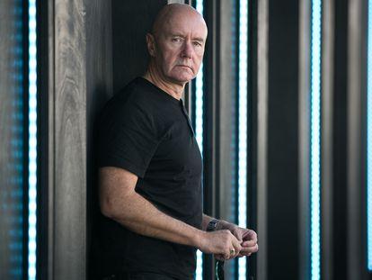 El escritor Irvine Welsh, en Barcelona en 2018
