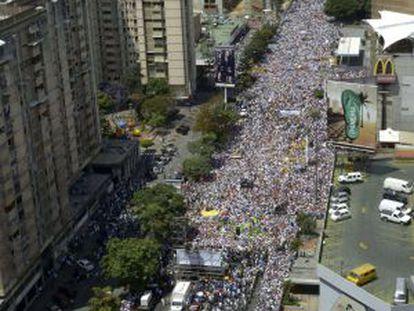 Manifestación en Caracas este sábado.