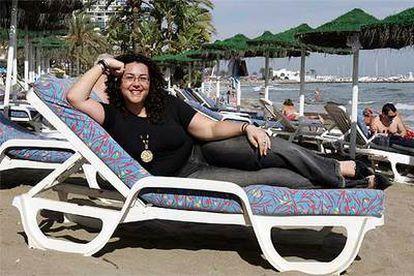 Sarah Romero, directora de La Flecha.net, en Marbella.
