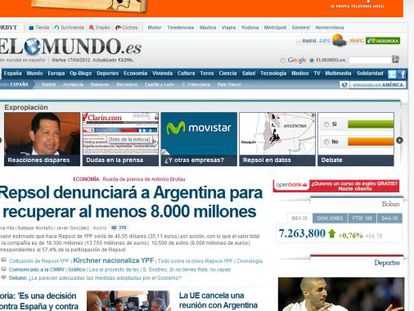 Página web de ElMundo.es