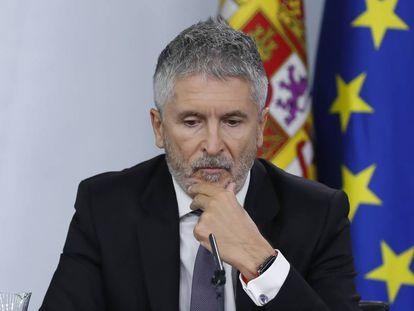 Grande-Marlaska, el pasado viernes, en la rueda de prensa posterior al Consejo de Ministros.