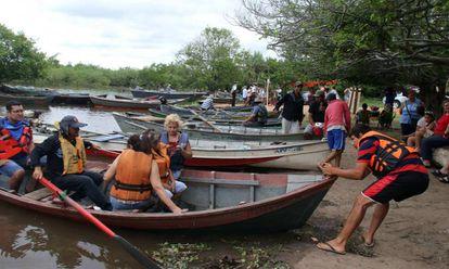 Turistas en Paraguay