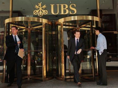 Edificio del banco suizo UBS en Nueva York, en 2009.