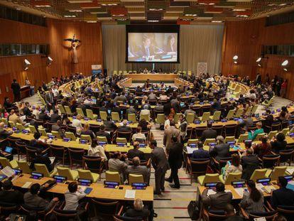 Seseión de trabajo del Foro Político de Alto Nivel de la ONU, responsable del seguimiento de los ODS.