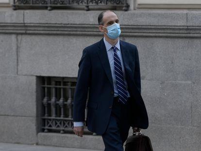 El inspector jefe Manuel Morocho llega a la Audiencia Nacional, el pasado 15 de junio.