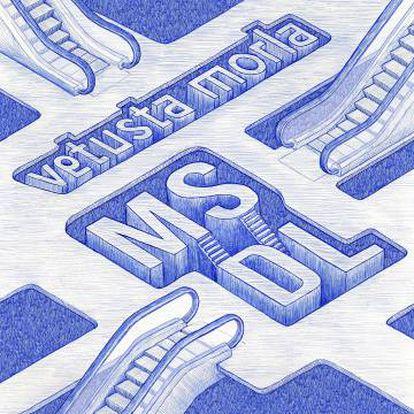 Portada del disco 'MSDL'. Ilustración de Gorka Olmo.
