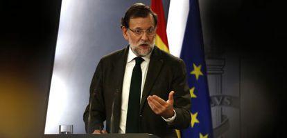 Mariano Rajoy, en La Moncloa, valora sus reuniones.