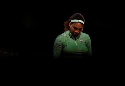 Serena Williams, durante su partido contra Begu.