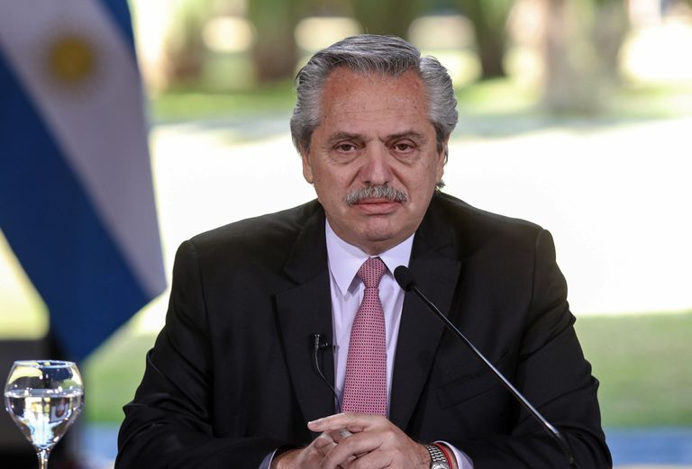 The President of Argentina, Alberto Fernández, announces the extension of the quarantine, last July 17.