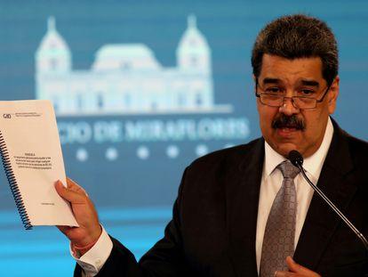 Nicolás Maduro, presidente de Venezuela, en una conferencia de prensa en Caracas, el pasado 17 de febrero.