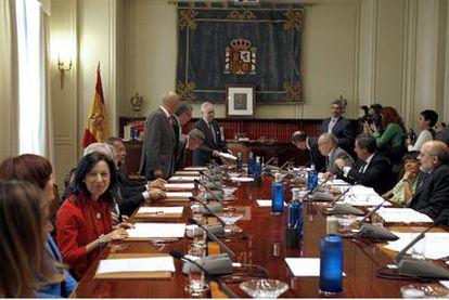 Sesión plenaria del Consejo General del Poder Judicial el 30 de septiembre de 2008.