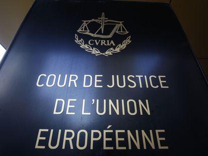 Entrada del Tribunal de Justicia de la UE, en Luxemburgo.