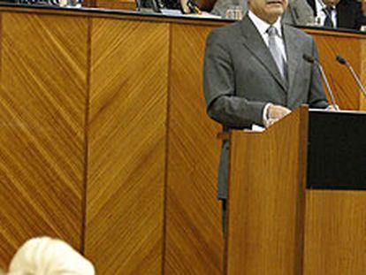 Manuel Chaves, durante el discurso de investidura.