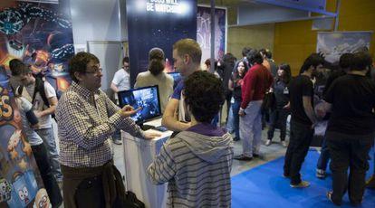 El puesto de Made in Spain dentro de la feria Madrid Games Week.