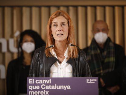 Jéssica Albiach, líder de En Comú Podem, en la noche electoral.  Kike Rincón (Europa Press)