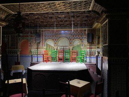 El Tablao Torres Bermejas reabre sus puertas este viernes con un escenario protegido con mamparas.
