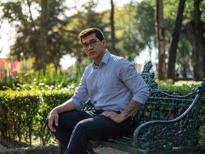 Orlando Mondragón, en el Parque de los Venados, al sur de Ciudad de México.