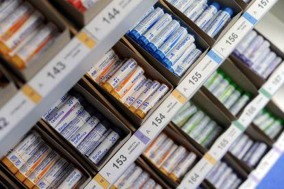 Productos homeopáticos en el laboratorio de Boiron en Brest (Francia).