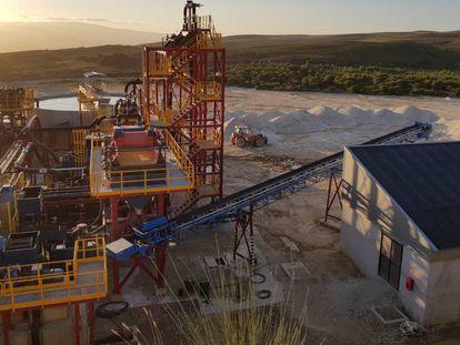 Instalaciones mineras de Strategic Minerals Spain en Penouta (Ourense).
