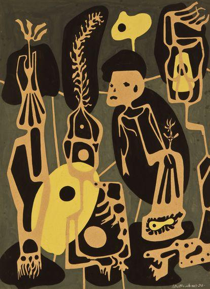 'Radiografía Paranoica', obra de 1936 del artista Juan Battle Planas.