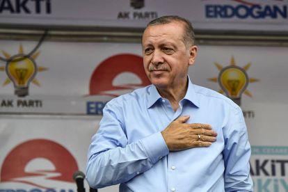El presidente turco, Recep Tayyip Erdogan, el sábado en un acto de campaña en Estambul.