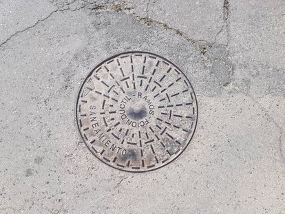 Alcantarilla circular.