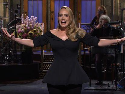 La cantante Adele, en 'Saturday Night Live', el sábado.