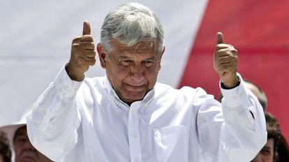 López Obrador, este domingo en el Zócalo.