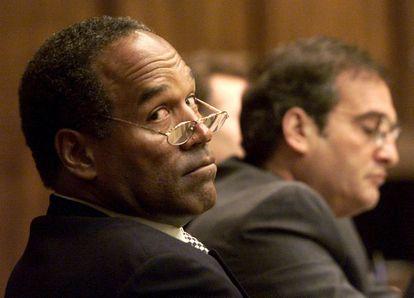 O..J. Simpson, durante una sesión judicial en 2001.
