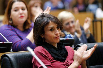 Juana Rivas en el Congreso de los Diputados.