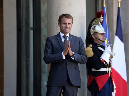 El presidente francés, Emmanuel Macron, en el Palacio del Elíseo, en París, el pasado 24 de septiembre.