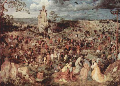 'El camino del monte calvario', Pieter Brueghel el Joven (1602). John Berger utiliza esta pintura en su documental 'Ways of seeing' para ilustrar cómo la reproductibilidad de las obras permite posar nuevas miradas sobre ellas; por ejemplo, más acotadas o descontextualizadas.