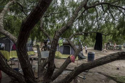 Campamento de refugiados de Matamoros, en el Estado de Tamaulipas,  norte de México.