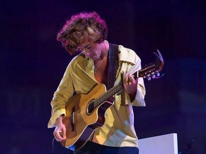 Guitaricadelafuente en concierto en Pedralbes.