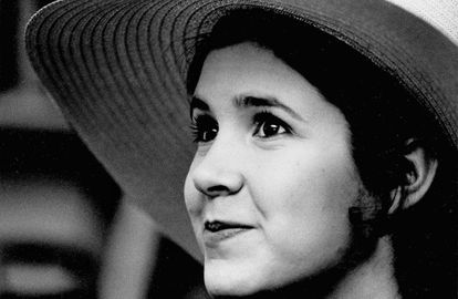 Carrie Fisher, a los 16 años.