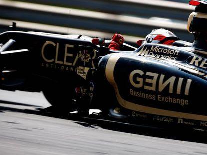Kimi Raikkonen en su Lotus durante el Gran Premio de Hungría