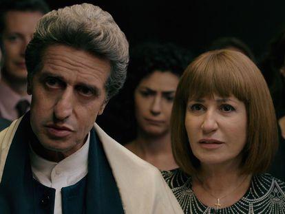 El pastor Emilio (Diego Peretti) y su mujer Elena (Mercedes Morán), en una escena de 'El reino'.