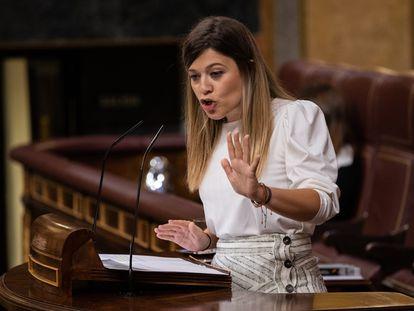 La diputada del PSOE Laura Berja, este martes en el Congreso de los Diputados.