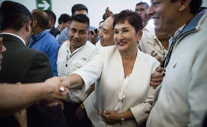 Thelma Aldana, a principios de marzo en Ciudad de Guatemala.